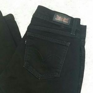 Levis 524 Too Superlow black jeans